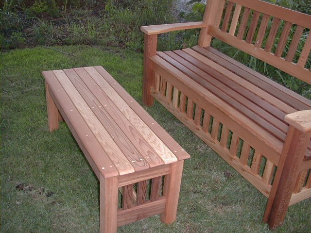 Backyard Benches