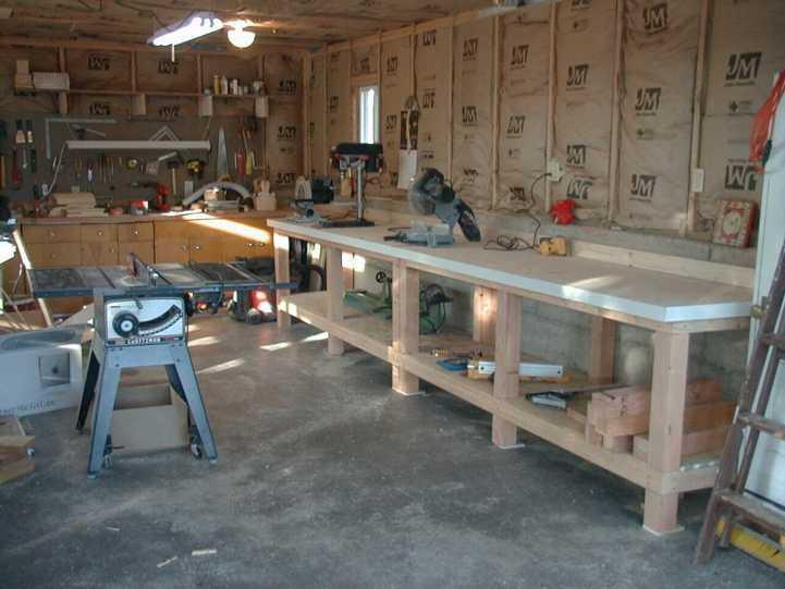 Creative Workbench Against Wall No Stringers Leg Design