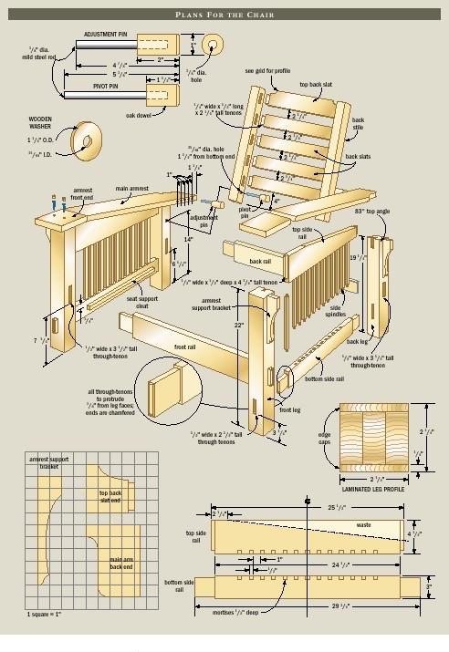 morris chair plans
